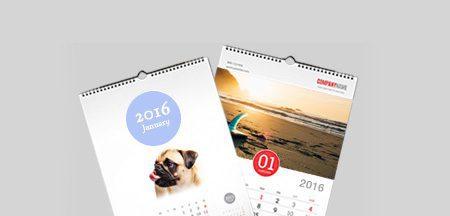 A3 Flat Wall Personalised Calendar